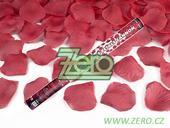 Konfety vystřelovací 60 cm - bordó plátky růží,