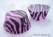 Košíčky na muffiny 50x35 mm (30 ks) - zebra,