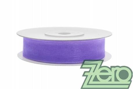 Stuha šifónová 12 mm x 25 m - fialová - Obrázek č. 1