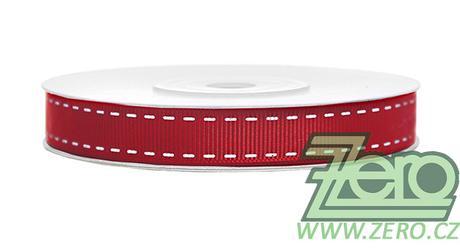 Stuha tkaná s tiskem 1,5 cm x 25 m - červená - Obrázek č. 1
