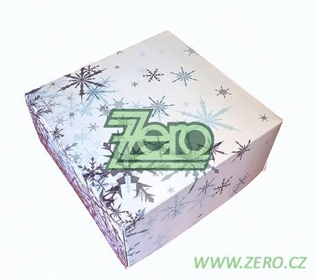 Krabička papírová 18x18 cm - bílá s tiskem - Obrázek č. 1