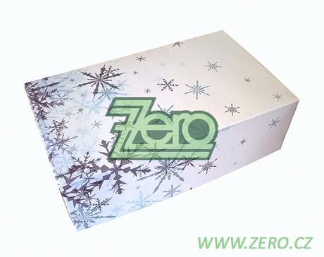 Krabička papírová 25x15 cm - bílá s tiskem - Obrázek č. 1