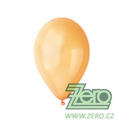Balónky nafukovací Ø 26 metalové 20 ks - lososové - Obrázek č. 1