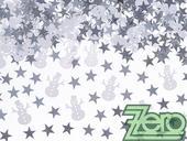 """Konfety kovové """"sněhulák,hvězdičky"""" - bílo-stříbro,"""