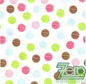 Ubrousky papírové s potiskem 20 ks - puntíky,