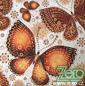 Ubrousky papírové s potiskem 20 ks - motýli,