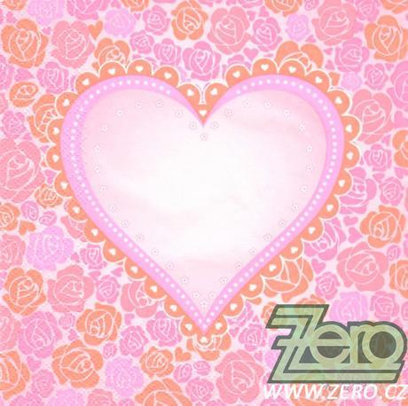 Ubrousky papírové s potiskem 20 ks - srdce - Obrázek č. 1