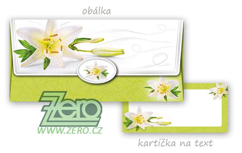 Obálka na peníze s motivem lilie - Obrázek č. 1