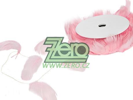 Pírka na drátě 10 m - sv. růžová - Obrázek č. 1