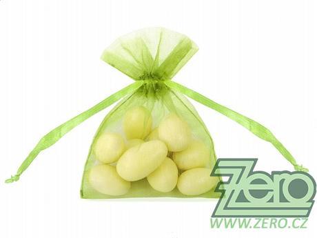 Pytlíček z organzy dárkový 7,5x10 - zelené jablko - Obrázek č. 1