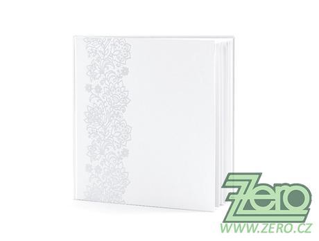 Kniha hostů svatební - bílá s ornamenty - Obrázek č. 1
