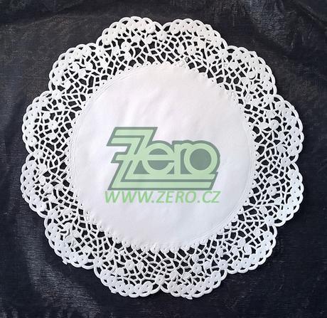 Krajka VIP ozdobná pod koláče Ø 30 cm/12 ks - bílá - Obrázek č. 1