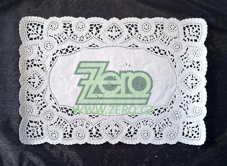 Krajka VIP ozdobná pod koláče 20x28 cm/12ks - bílá - Obrázek č. 1