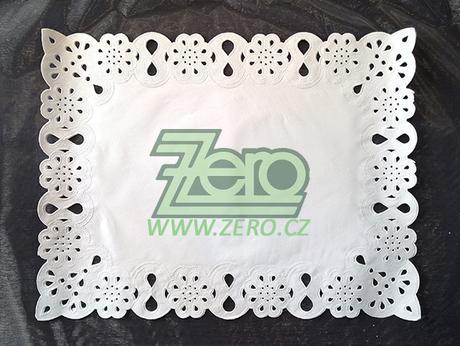 Krajka VIP ozdobná pod koláče 30x40 cm/12ks - bílá - Obrázek č. 1