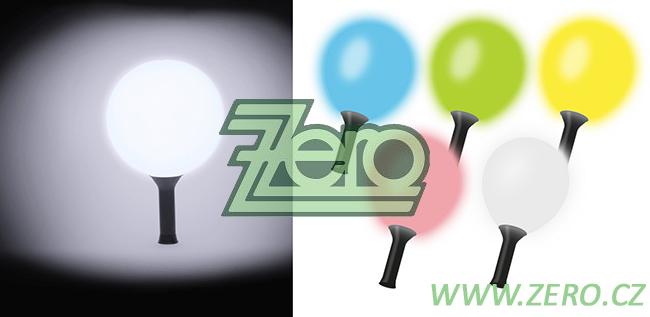 Balónek nafukovací LED (svíticí) s rukojetí-barva - Obrázek č. 1