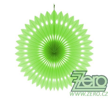Rozeta závěsná papírová pr. 40 cm - zelená - Obrázek č. 1