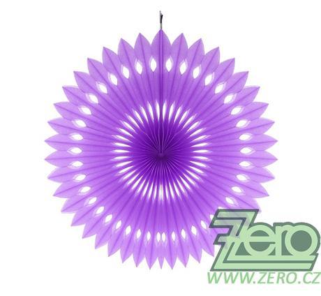 Rozeta závěsná papírová pr. 40 cm - fialová - Obrázek č. 1
