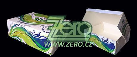 AKCE Krabička papírová s potiskem - bílá + tisk - Obrázek č. 1
