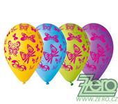 Balónky nafukovací Ø 30 cm (5 ks) - motýlci mix,