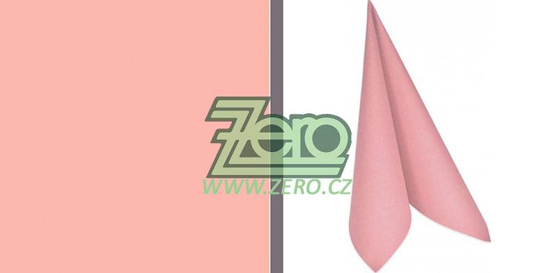 """Ubrousky 40 x 40 cm """"Duni"""" 60 ks - světle růžová - Obrázek č. 1"""