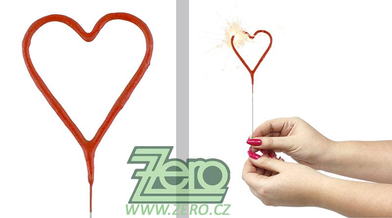 Prskavky srdce červené 18 cm - Obrázek č. 1