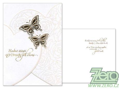 Přání svatební s textem a obálkou - mix - Obrázek č. 1