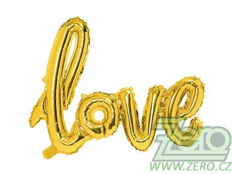 Balónky nafukovací LOVE 59x73 cm - zlatý - Obrázek č. 1