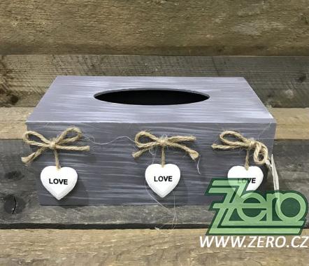Krabička dřevěná na kapesníky - Obrázek č. 1