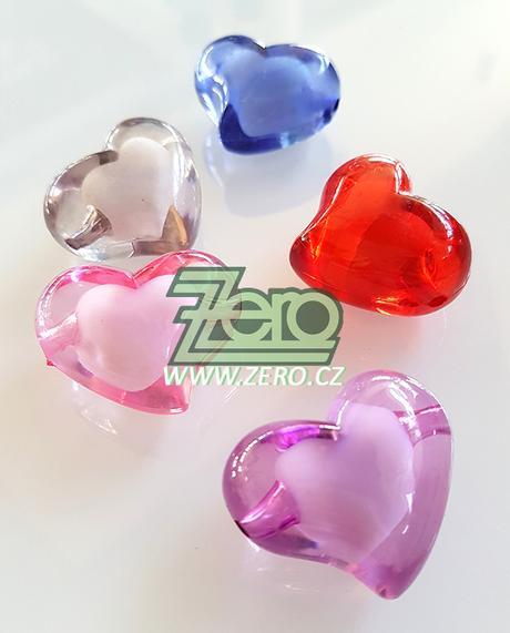 """Kamínky/korálky """"srdce"""" - barevné - Obrázek č. 1"""
