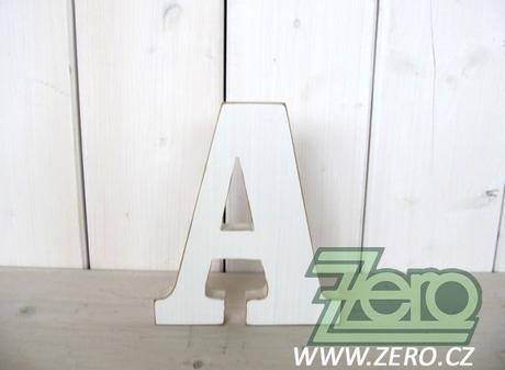 Dřevěná písmena a čísla 18 cm - bílé - Obrázek č. 1