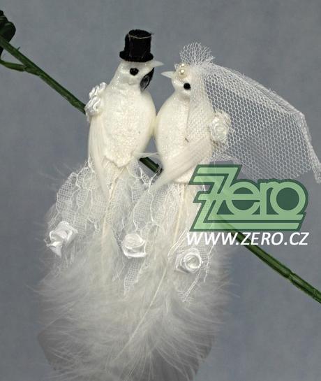 Klips se svatebními holoubky 2 páry - Obrázek č. 1