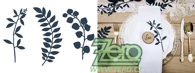 Větvička papírová dekorační 9 ks - tmavě modrá - Obrázek č. 1