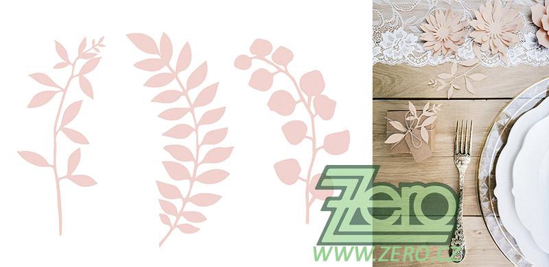 Větvička papírová dekorační 9 ks - růžová pudrová - Obrázek č. 1