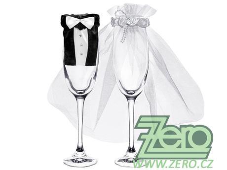 """Oblek svatební na skleničku """"novomanželé"""" - Obrázek č. 1"""