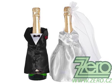 """Oblek svatební na šampus """"novomanželé"""" - Obrázek č. 1"""