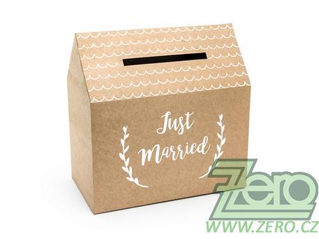 Krabička (truhlička) svatební na přání - přírodní - Obrázek č. 1