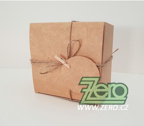 Krabička papírová 11x11x7 cm - přírodní - Obrázek č. 1