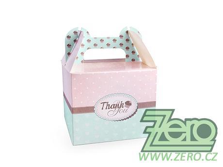 """Krabička papírová s uchem """"Thank You"""" - Obrázek č. 1"""