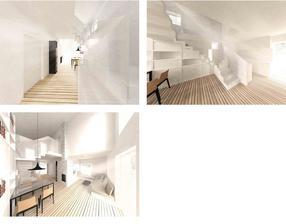 Asi takto nejako bude vyzerať časť chodba, jedaleň, obývačka a kuchyňa