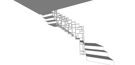 schodisko bude z ohýbaného plechu, zábradlie zvarené z jokolvých profilov. Farba biela.