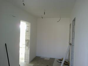 bielobiele steny :) a skuska pokladania dlazby