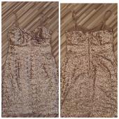 Spolocenske šaty medene-zlate, 38