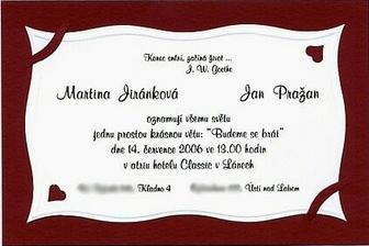 A toto už je naše oznámení....text je zlatý, ale ten scan to nějak nepobral