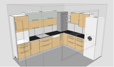 Kuchyn z Ikei uz ceka doma