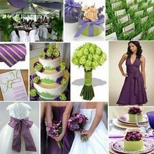 plum purple and lime green
