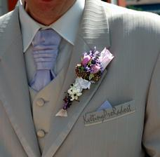 klopa pro ženicha, bude i předlohou pro kytice..hlavně hodně levandule.:)