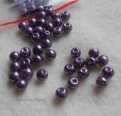 166-perle fialové 6mm/70ks,