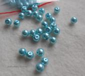167-perly modré 6mm/70Ks-skladem,