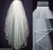 Svatební závoj bílý 01,