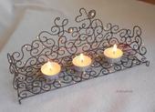 Svatební rustikální svícen-Skladem,